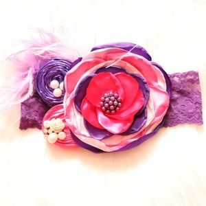 Girls & Baby Couture Floral/ Feather Headbands